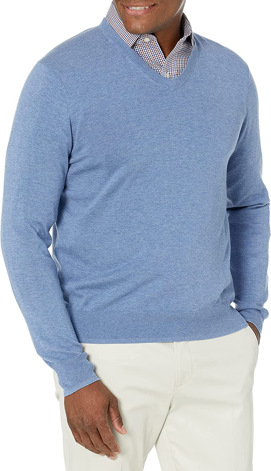 Buttoned Down wholesale Men's Supima V-Neck Lightweight Cotton Sweater Soldering