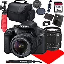 $359 Get Canon EOS 2000D / Rebel T7 DSLR Camera w/ 18-55mm F/3.5-5.6 III Lens + 32GB SD Card + More