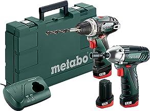 Metabo Combo Set 10.8 V * BS+SSD Negro, Verde - Taladro eléctrico (Batería, 3 pieza(s), Ión de litio, 10,8 V, 2 Ah)