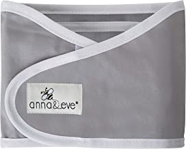 Anna & Eve - Baby Swaddle Strap, Adjustable Arms Only Wrap for Safe Sleeping - Small Size Fits Chest 13.5 to 17, Grey