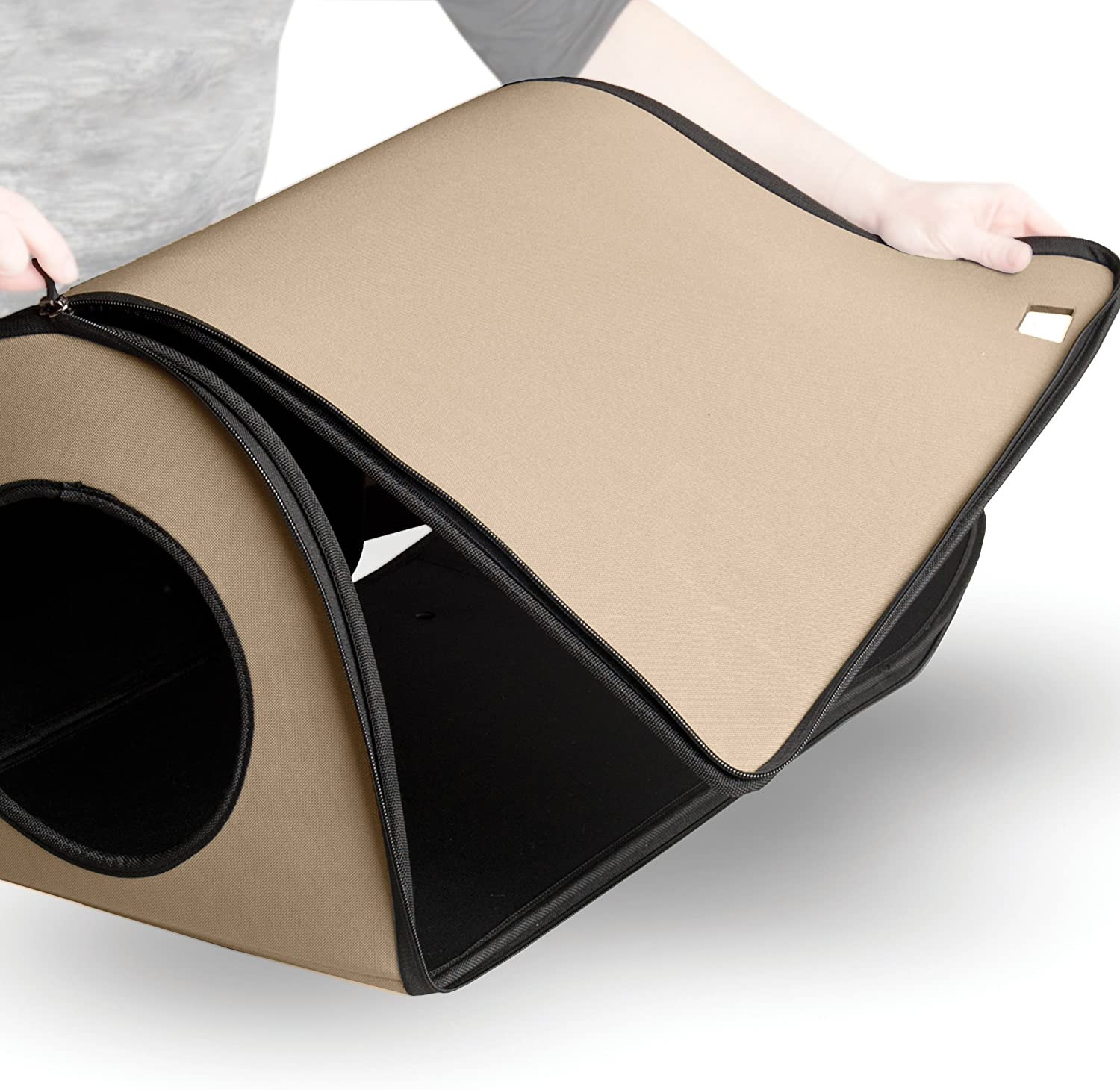 K&H Pet Products Mod Thermo-Kitty Heated Shelter Great for Outdoor Cats Tan