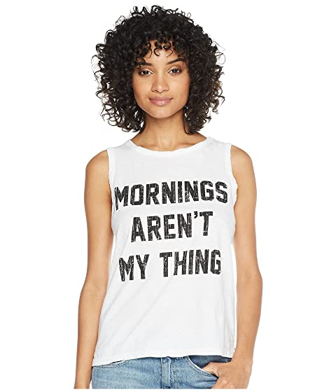 The Original Retro Brand Mornings Aren't My Thing Cotton Slub Tank White Sale Many Kinds Of jiBEfuWH