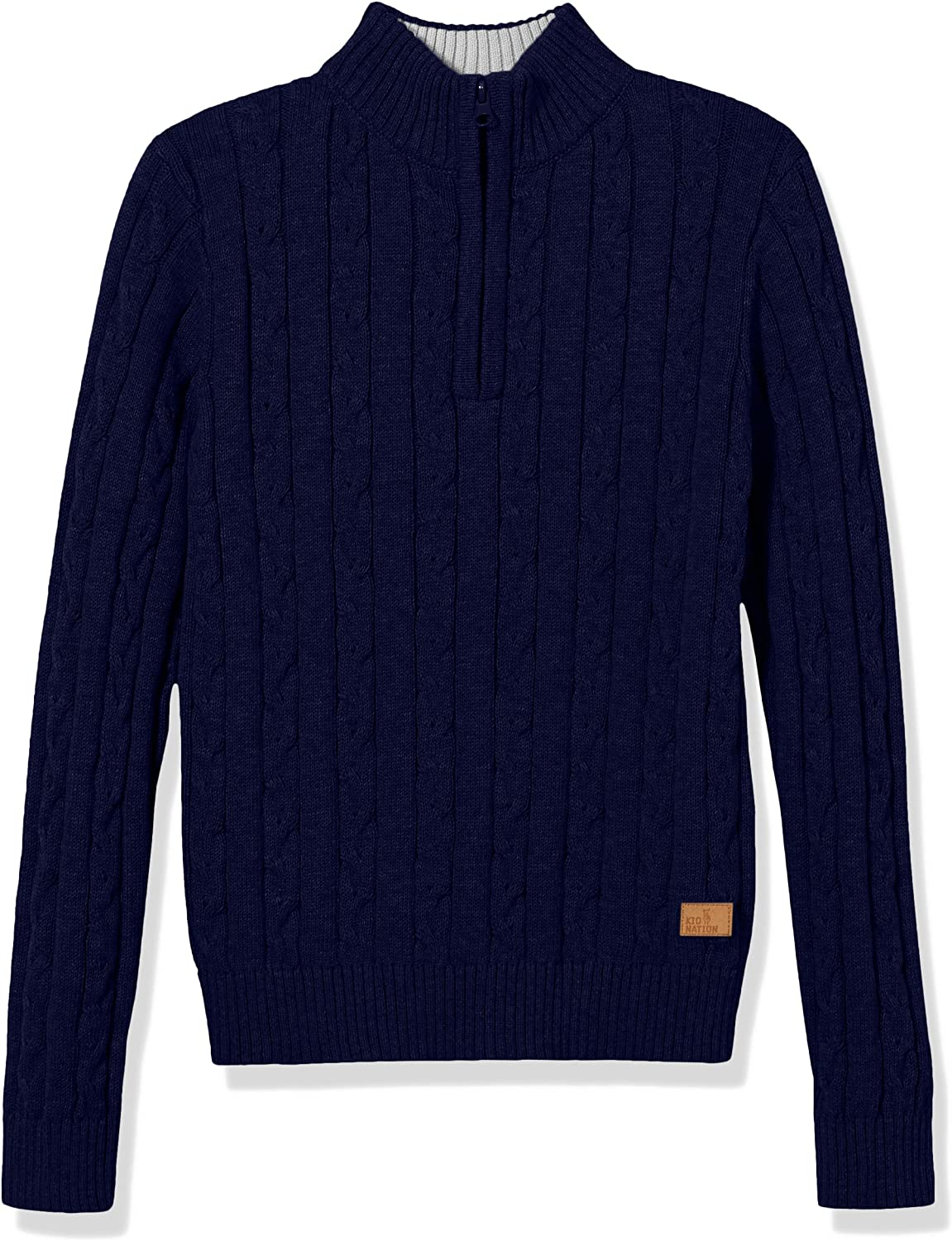 Amazon Essentials' Long Sleeve Pullover Casual Style Half Placket Cable Knit Sweater S Navy