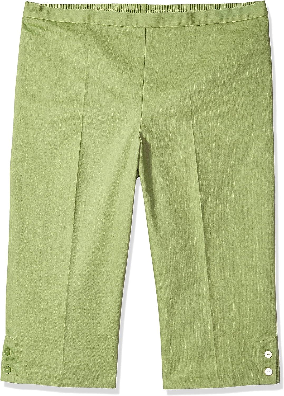 Alfred Dunner Womens Comfort Elastic Clam Digger Pants