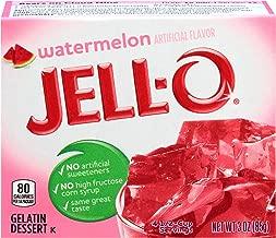 JELL-O Watermelon Gelatin Dessert Mix (3 oz Boxes, Pack of 6)