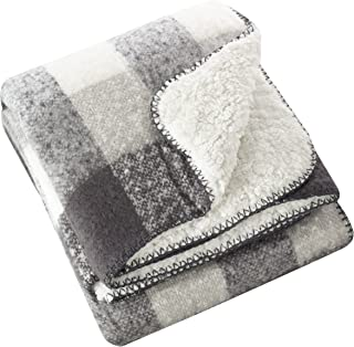 SARO LIFESTYLE Sevan Collection Faux Mohair Design Sherpa Throw Blanket, 50