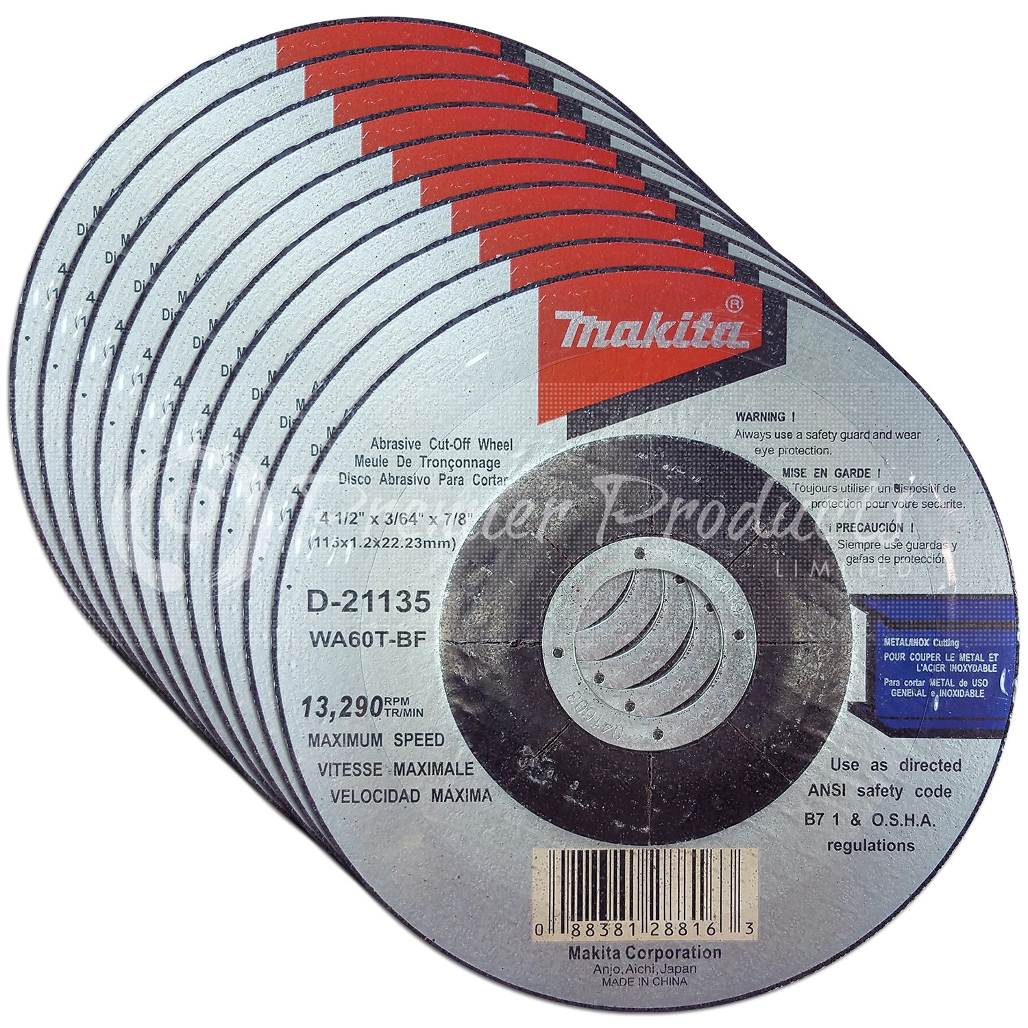 4 Inch Cut Off Wheels For 4 Grinders Makita 5 Pack 4 x .045 For M10 x 1.25 Spindle Thread Aggressive Cutting For Metal /& Stainless Steel