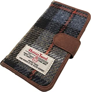 Harrington Marley New Harris Tweed iPhone 6 7 8 Compatible Folio Phone CASE Cover Wallet Tartan FLIP