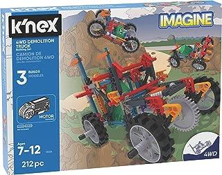 K'NEX K'Nex Imagine – 4WD Demolition Truck Building Set – 212Piece – Ages 7+ – Engineering Educational Toy Building Set