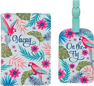 Karma Gifts Passport Holder & Luggage Tag Set, Tropical