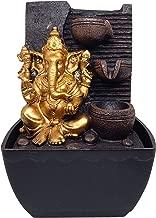 Ethnic Karigari Polyresine Ganesha Table Top Water Fountain Showpiece (18 cm X 14 cm X 13 cm)