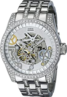 Guess For Men Black Dial Stainless Steel Band Chronograph Watch - W13550G1