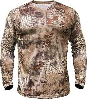 Kryptek Hyperion Long Sleeve Camo Shirt - Lightweight, Birds-Eye Mesh for Hunting & Fishing Shirt (K-Ore Collection)