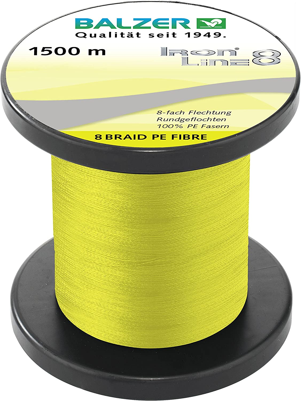 8-fach rundgeflochtene Schnur 0.14mm 1500m gelb