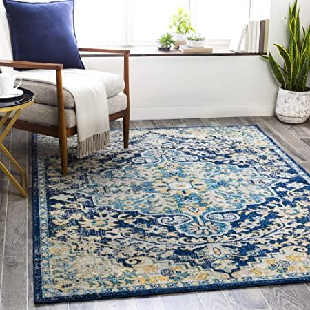 Amazon Com Artistic Weavers Odelia Area Rug 6 7 X 9 Navy Sky Blue Furniture Decor