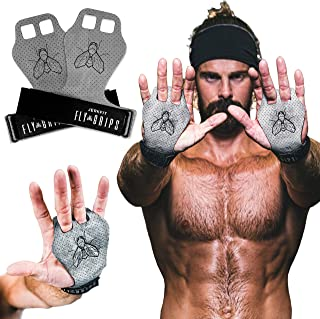 JerkFit Fly Grips 100% Vegan Lightweight Gloves with Ultra Hand Grip for Weightlifting, Powerlifting, Pull Ups, WOD, Gymna...