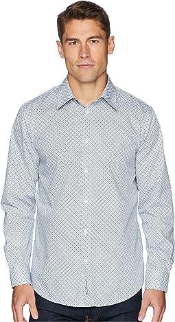 Long Sleeve Bias Check Print Shirt