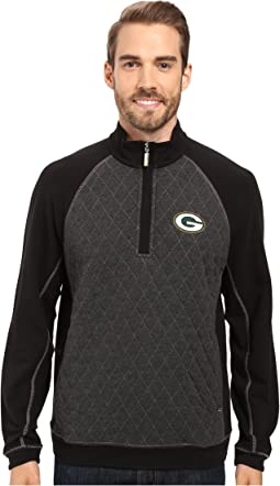 Tommy Bahama Green Bay Packers NFL Gridiron 1/2 Zip Pullover