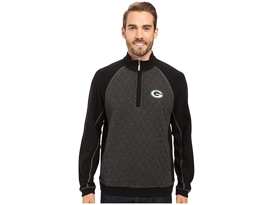 Tommy Bahama Green Bay Packers NFL Gridiron 1/2 Zip Pullover (Packers Black) Men