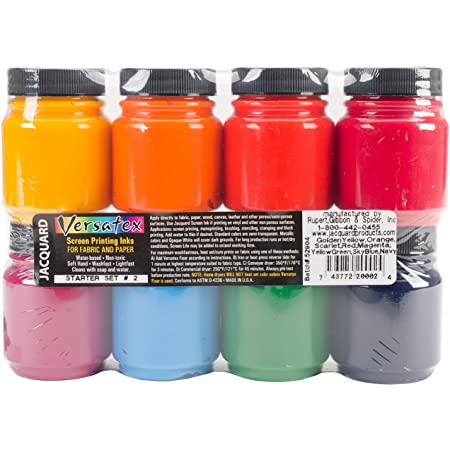 Green Yellow Red Black Speedball 4504W Fabric Screenprinting Ink Set Blue Pack of 2 White