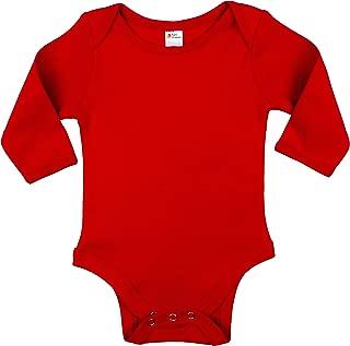 red long sleeve onesie
