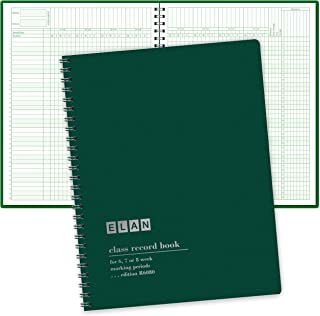 Class Record Book for 6-8 Weeks. 36 Names. Large Blocks (R6080)