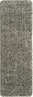 Ottomanson Luxury Collection Solid Runner Rug with Non-Slip/Rubber-Backing Bath Rug, 2'2