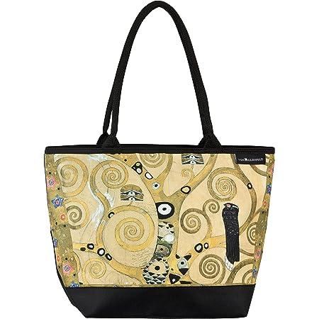VON LILIENFELD Handtasche Damen Motiv Kunst Gustav Klimt Lebensbaum Shopper Maße L42 x H30 x T15 cm Strandtasche Henkeltasche Büro