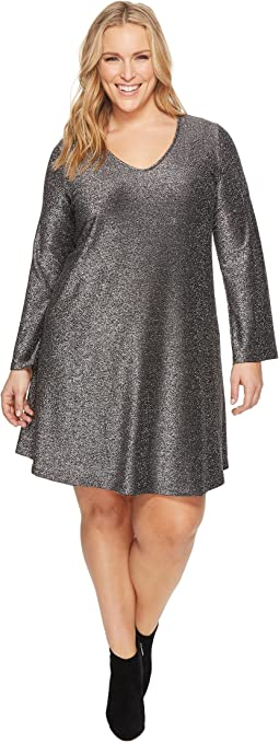 Karen Kane Plus - Plus Size Sparkle Taylor Dress