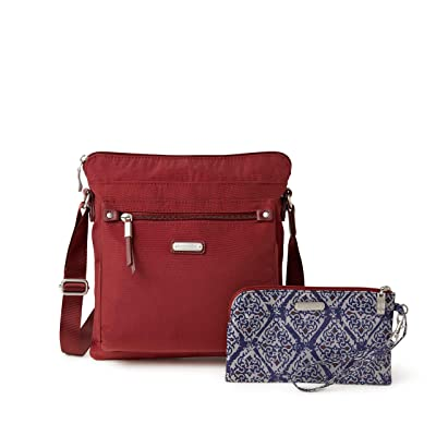 Baggallini New Classic Go Bagg with RFID Phone Wristlet (Russet Red) Bags