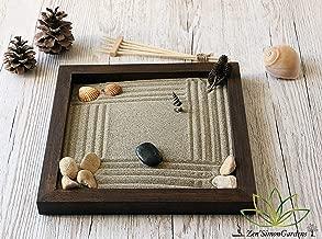 Prodotto di Qualita GIARDINO ZEN DA TAVOLO 25x25 2cm di legno massello MOGANO lavorato artigianalmente fatto a mano
