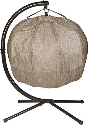 Amazon Com Flower House Fhpc100 Brk Hanging Pumpkin Loveseat Chair With Stand Bark Garden Outdoor
