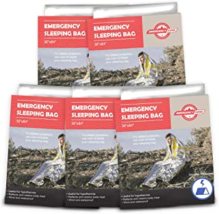 Emergency Sleeping Bag, Survival Bag, 1, 5, 12, and 144 Packs Available