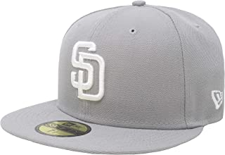 New Era 59Fifty Hat San Diego Padres MLB Basic Gray Fitted Cap 11591111