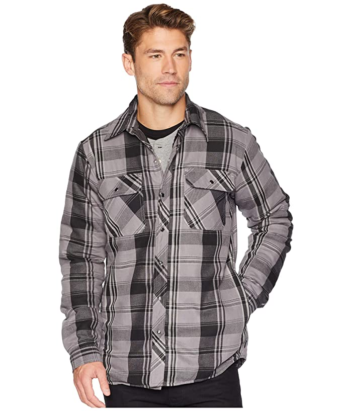 Dickies Modern Fit X-Series Snap Front Shirt Jacket (Smoke/Charcoal Plaid) Men