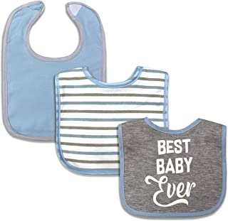 MODERN BABY Baby Bibs for Girls & Boys 3 Pack Unisex Drooler Bibs for Infants & Babies One Size Adjustable Closure