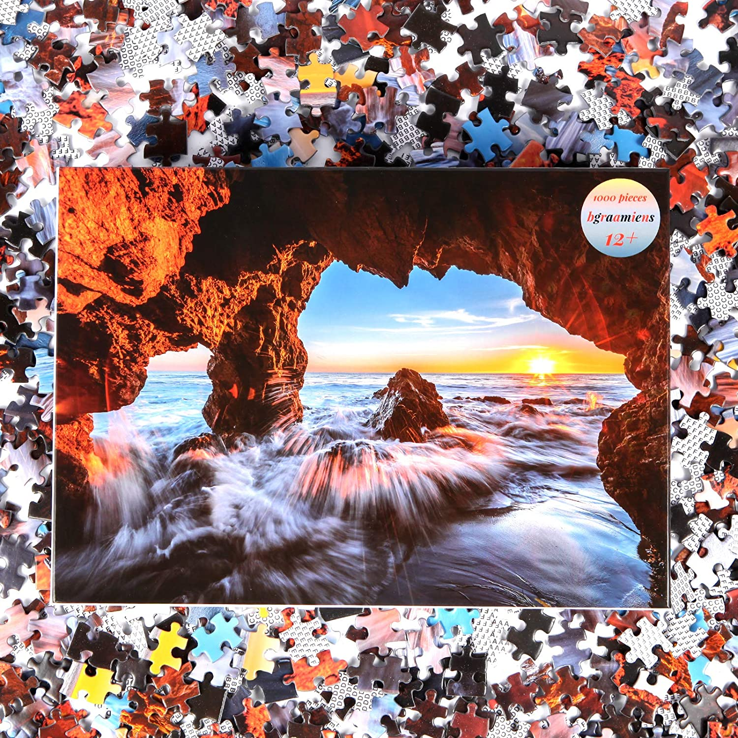 Bgraamiens Puzzle A Corner of the Sea 21 Pieces Peaceful Ocean and the  Sea Nature Scenery Series Jigsaw Puzzles