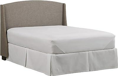 "Amazon Brand – Stone & Beam Darby Wingback King Upholstered Headboard, 80""W, Warm Grey"