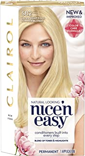 Clairol Nice 'N Easy Hair Color SB2 Ultra Light Cool Blonde Kit, 1 Count (PACKAGING MAY VARY)