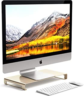 Satechi Aluminum Universal Unibody Monitor Stand - Compatible with 2017/2018 MacBook Pro, iMac Pro, Google Chromebook, Microsoft Surface, Dell, Asus and More (Gold)