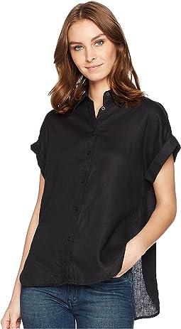 Linen Dolman-Sleeve Shirt
