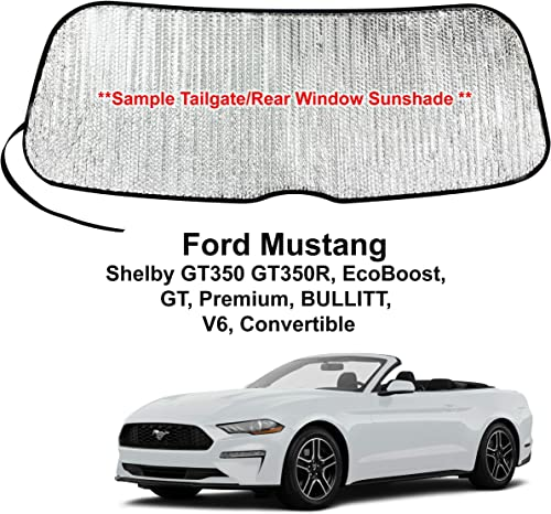 2021 YelloPro Rear Tailgate Window Sunshade Custom Fit for 2015 2016 2017 2018 2019 2020 2021 Ford Mustang, Shelby GT350 GT350R, EcoBoost, outlet sale GT, Premium, Bullitt, V6 Convertible, UV Reflector sale Protection online sale