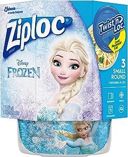 Ziploc Brand Twist n' Loc Containers Featuring Disney Frozen Design, Small, 16 oz, 3 ct