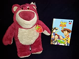 Disney Store Large Special Edition 15 Inch Plush Lotso I Smell Of Strawberries New With Tags and Toy Story 2 Hardcover Book