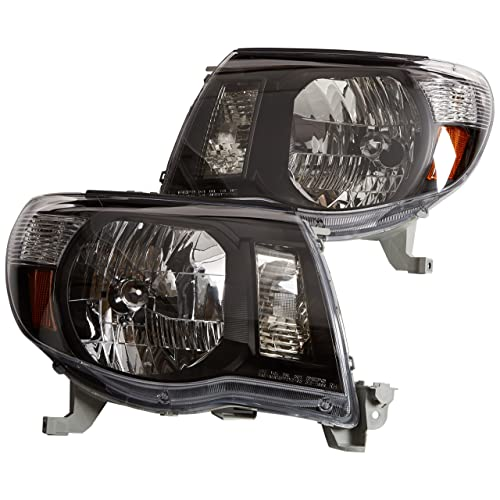 Depo 312-1186P-US2 Toyota Tacoma Headlight with Black Bezel, One Pair