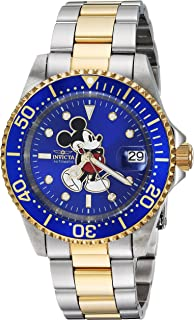 Men's Disney Limited Edition Automatic-self-Wind Watch with Stainless-Steel Strap, Two Tone, 9 (Model: 25105)