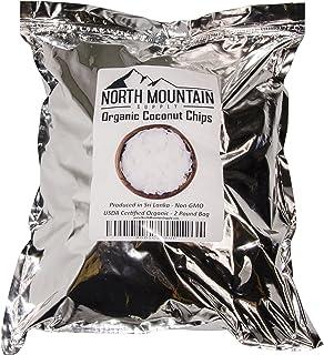 North Mountain Supply Chips de coco orgánico - 2 libras Bolsa – Producido en Sri Lanka