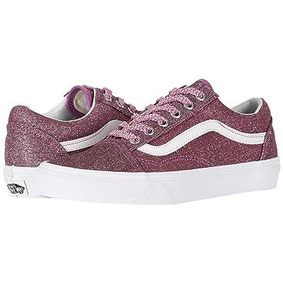 Vans Old Skooltm ((Lurex Glitter) Pink/True White) Skate Shoes
