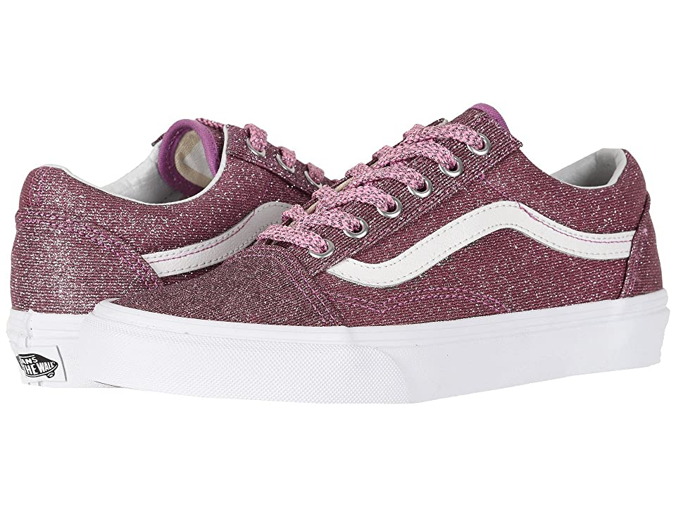 Vans Old Skooltm ((Lurex Glitter) Pink/True White) Skate Shoes