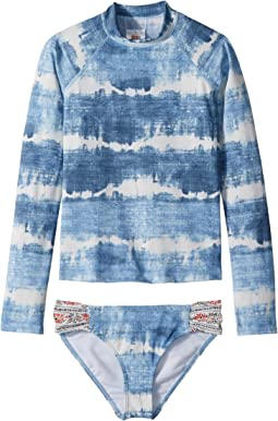 Billabong Kids Lil Bliss Long Sleeve Rashguard Set (Little Kids/Big Kids)